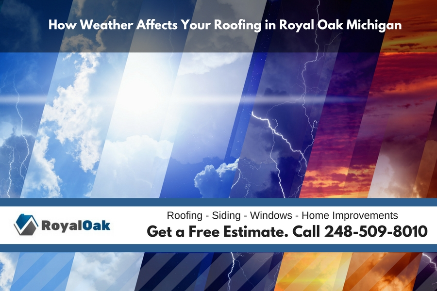 How Weather Affects Your Roofing in Royal Oak Michigan