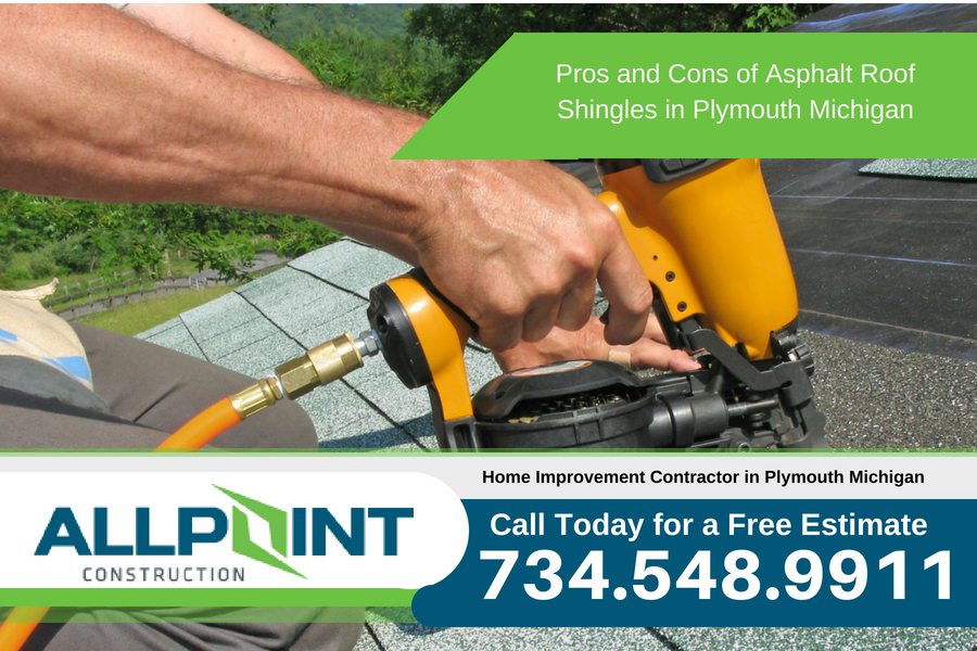 Pros and Cons of Asphalt Roof Shingles in Plymouth Michigan