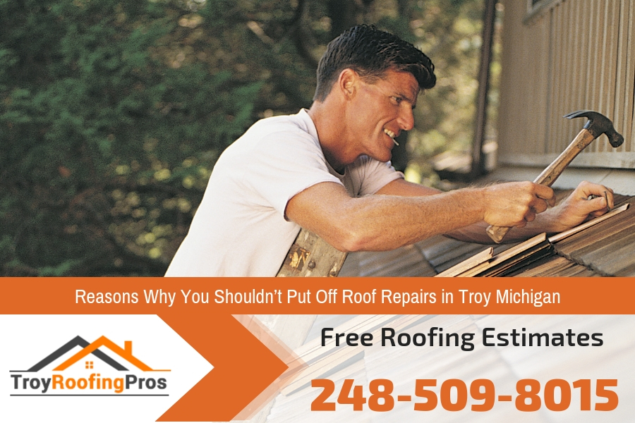 Reasons Why You Shouldn't Put Off Roof Repairs in Troy Michigan