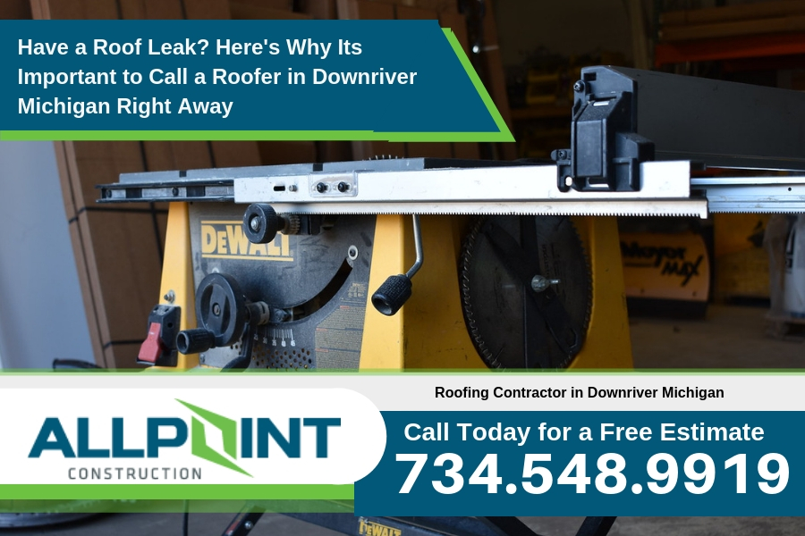 Have a Roof Leak? Here's Why Its Important to Call a Roofer in Downriver Michigan Right Away